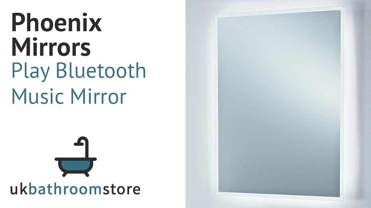 Bluetooth Bathroom Mirror Youtube phoenix mirrors - play bluetooth music mirror - mi043 - youtube