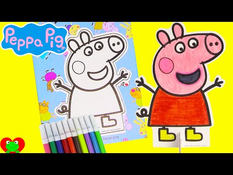 Thumbnail: Peppa Pig Pop Outz Coloring and Surprises Shopkins and More