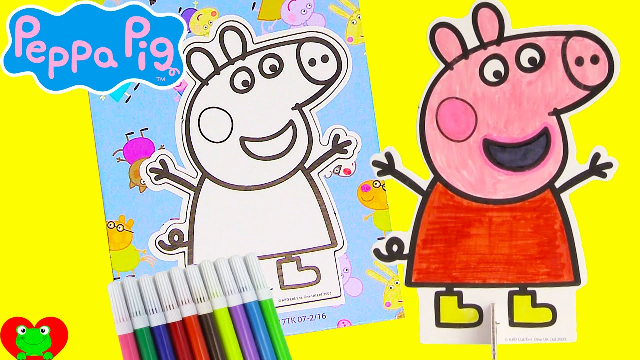 Peppa Pig Pop Outz Coloring and