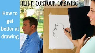 How to get better at drawing: blind contour drawing for beginners