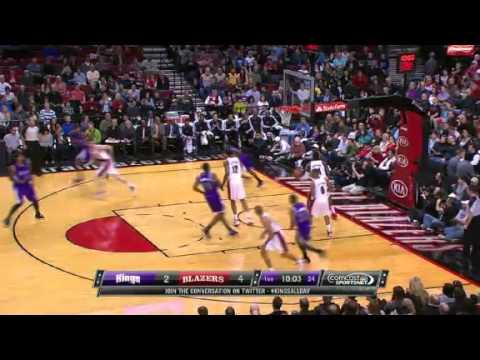 Beautiful BUCKET | Sacramento Kings Vs Portland Trail Blazers | 12/26/2012 | NBA Season 2012/13