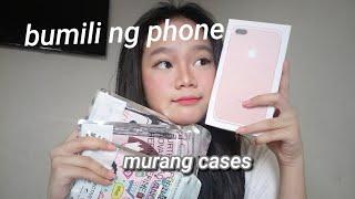 Nagwaldas ng peraa! Bumili ng phone + Cases Haul | MURA LANG!
