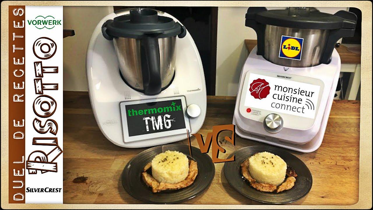 duel de recettes risotto thermomix tm6 vs monsieur cuisine connect par sand cook look