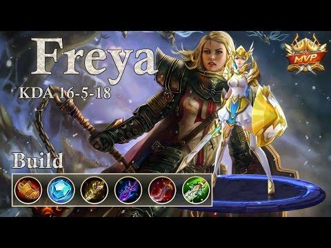 Mobile Legends: Freya MVP, the unstoppable Valkyrie! 1v3 the enemies!?