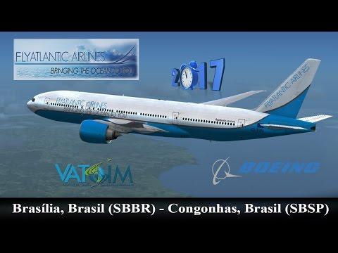 TSZ101 SBBR (Brasilia) - SBSP (Congonhas) with B738 PMDG   Flight Simulator 2017