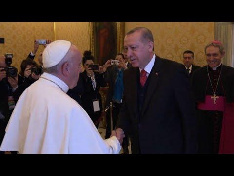 Pope Francis meets Turkish president Erdogan