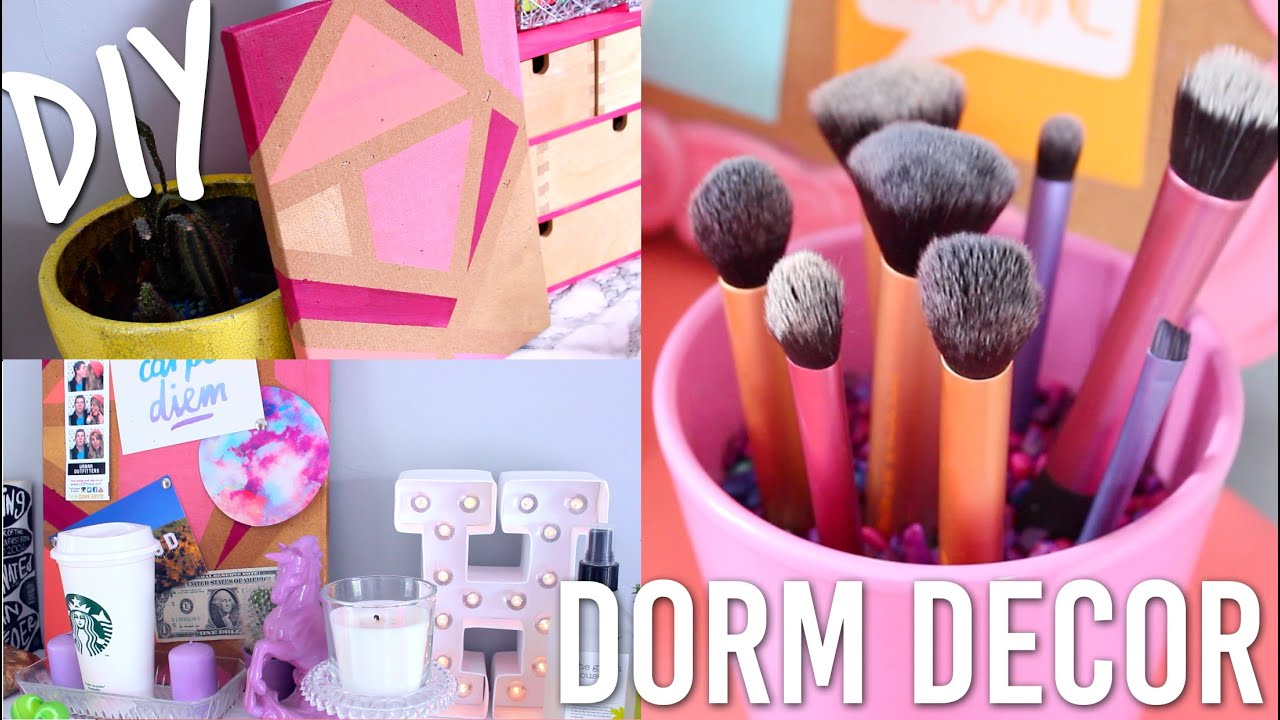 DIY Dorm Room Decor For Back To School College