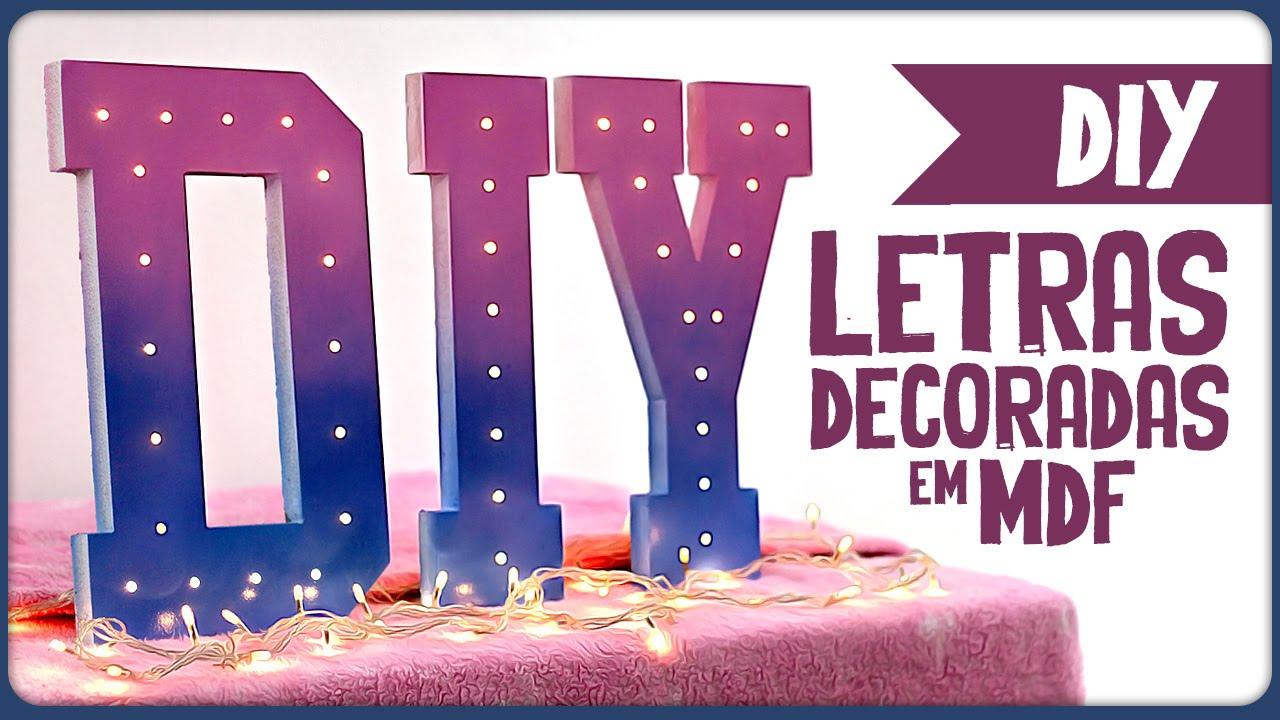 Letras Em Mdf Decoradas Taina: Letras Decoradas Em MDF =DiY