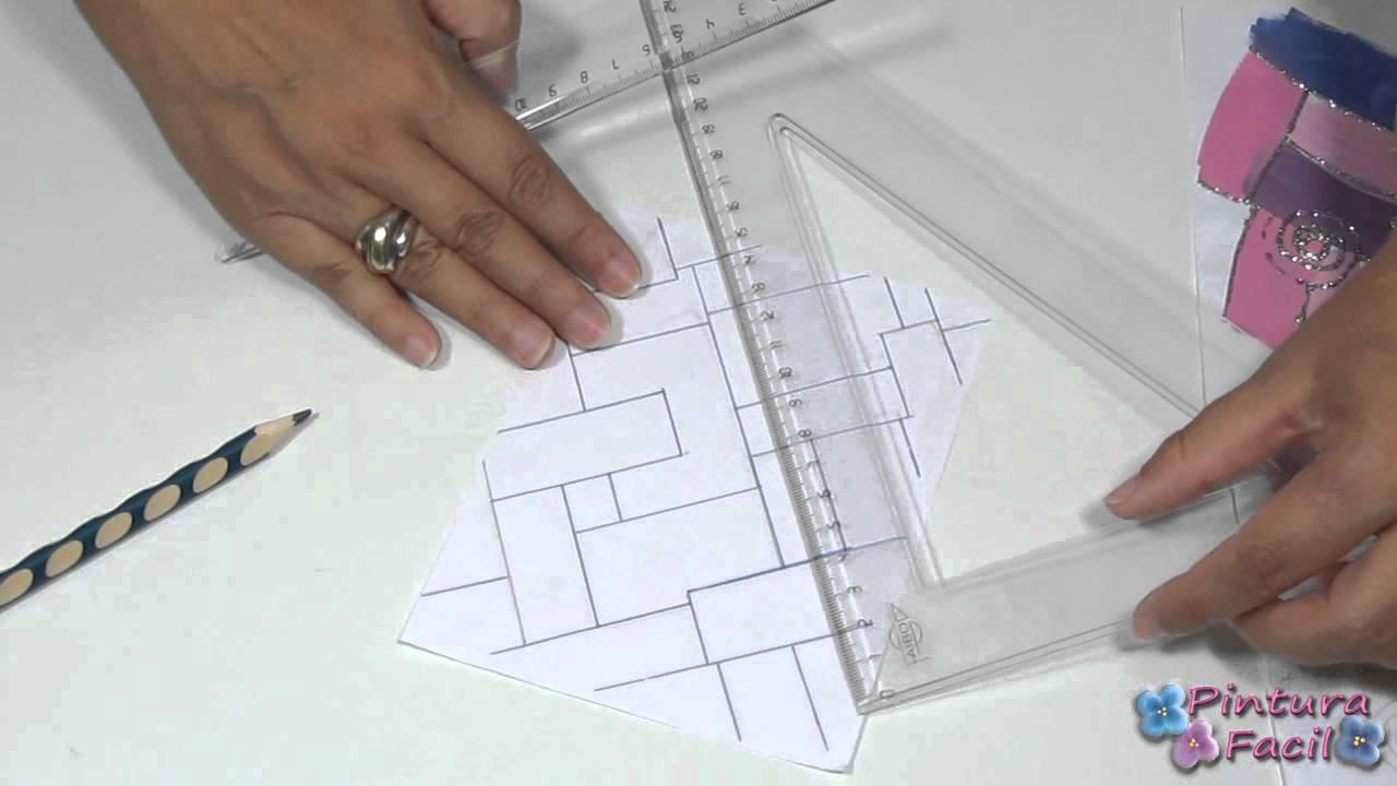 How to parallel lines dibujar lineas paralelas pintura for Imagenes de cuadros abstractos para colorear