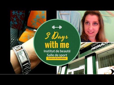 Three days with me! Institut de beauté, sport, formation🏐🥊📚