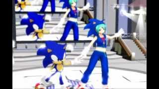 MMD: Hatsune Miku (初音ミク) & Sonic The Hedgehog ~ Packaged ~ 2012
