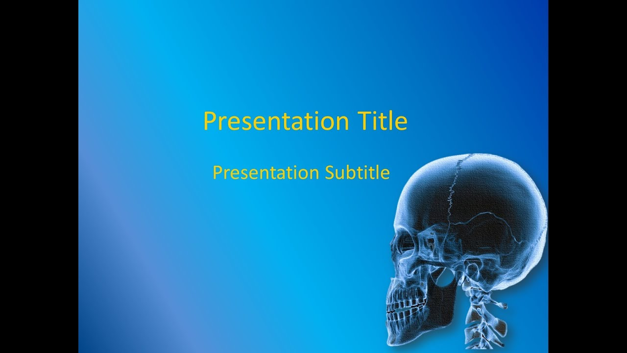 orthopedics powerpoint template - free download - youtube, Modern powerpoint
