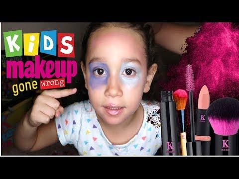 Full Face Kids Makeup Tutorial Prank