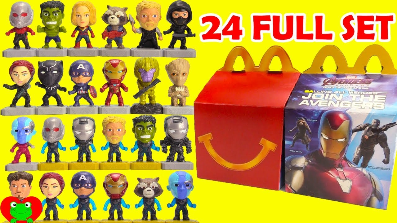 Opening 2019 Avengers Endgame Mcdonald S Happy Meal Toys