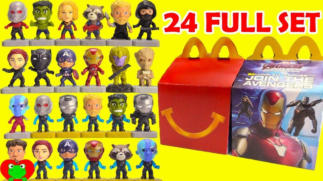 2019 Avengers Endgame McDonald's Happy Meal Toys Full Set ...