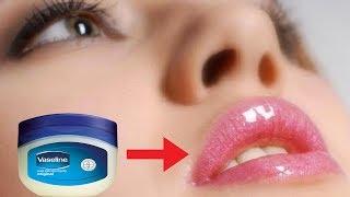 vaseline से 5 मिनट में काले होंठो को गुलाबी व सुंदर बनाये 100 working how to get pink lips