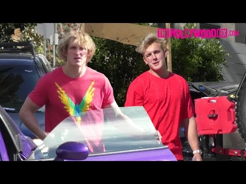 Logan Paul Meets Up With Jake Paul At Team 10 House Before Filming Prank Wars (Extra Footage)