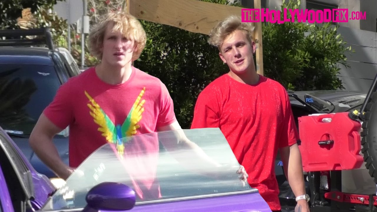 Logan Paul Meets Up With Jake Paul At Team 10 House Before ...