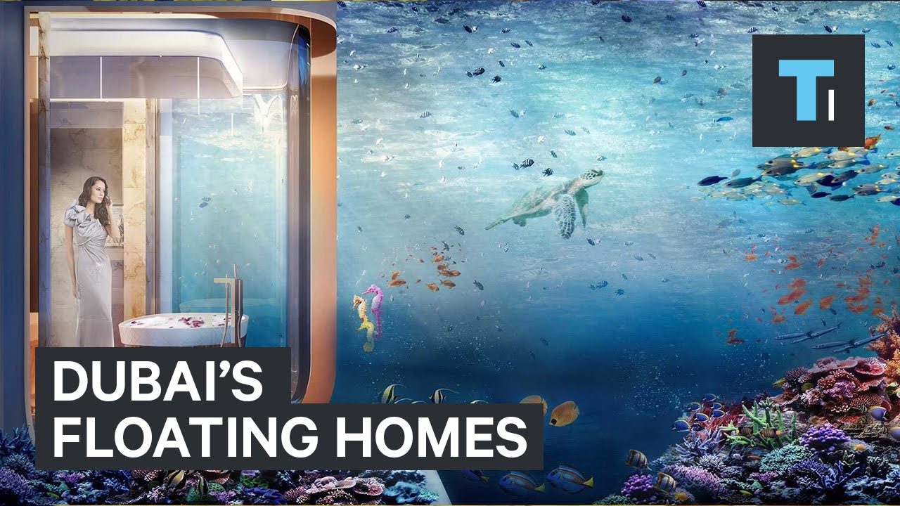 Dubais Floating Homes YouTube - These amazing floating villas have underwater bedrooms