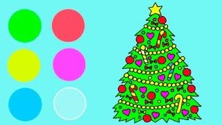 🎄 Английский для детей Рождественская раскраска