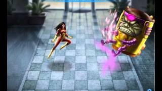 Spiderwoman vs. MODOK Heroic Battle