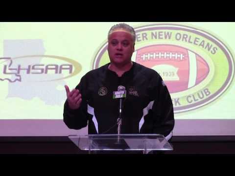 Bobby Hebert at Greater New Orleans Quarterback Club