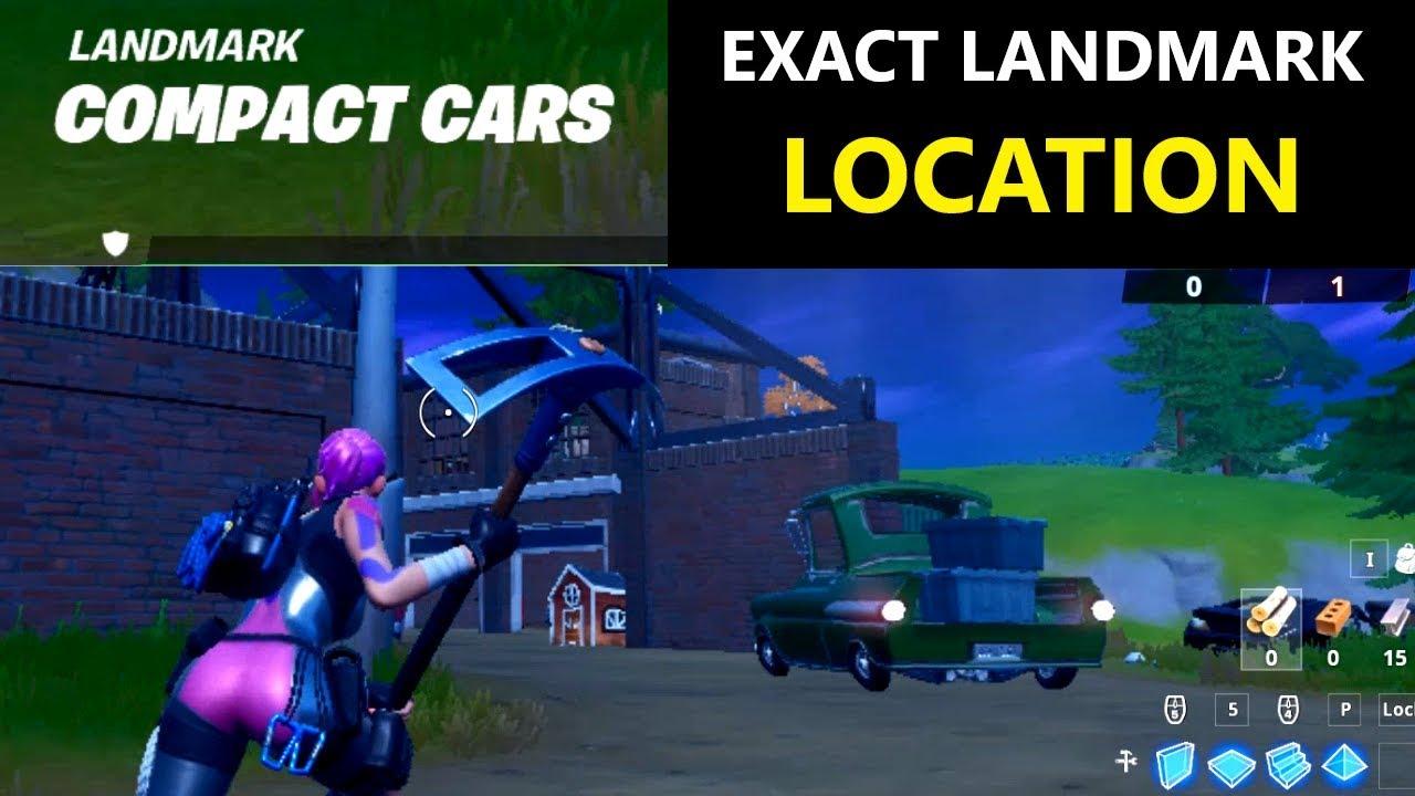 Fortnite Compact Cars Landmark Fortnite Chapter 2 Season 1 Landmark Location Youtube