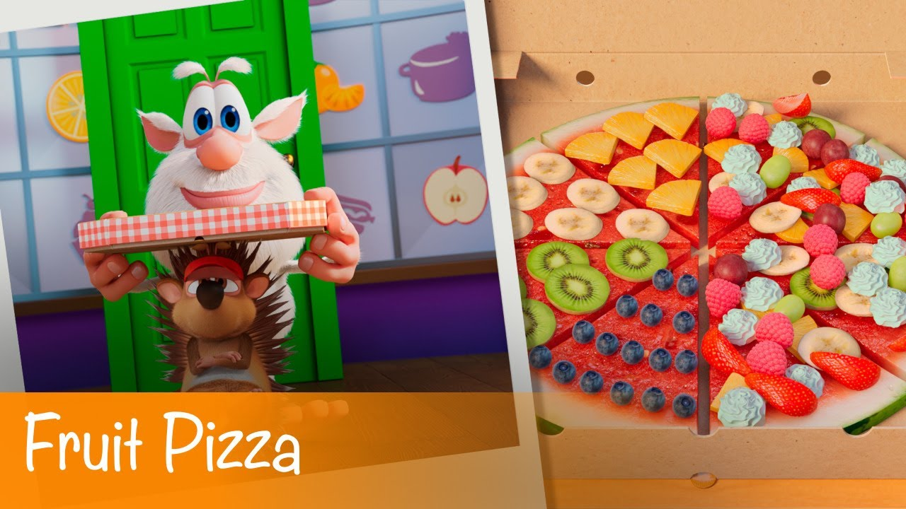 Booba - Food Puzzle: Fruit Pizza - Episode 14 - Cartoon for kids