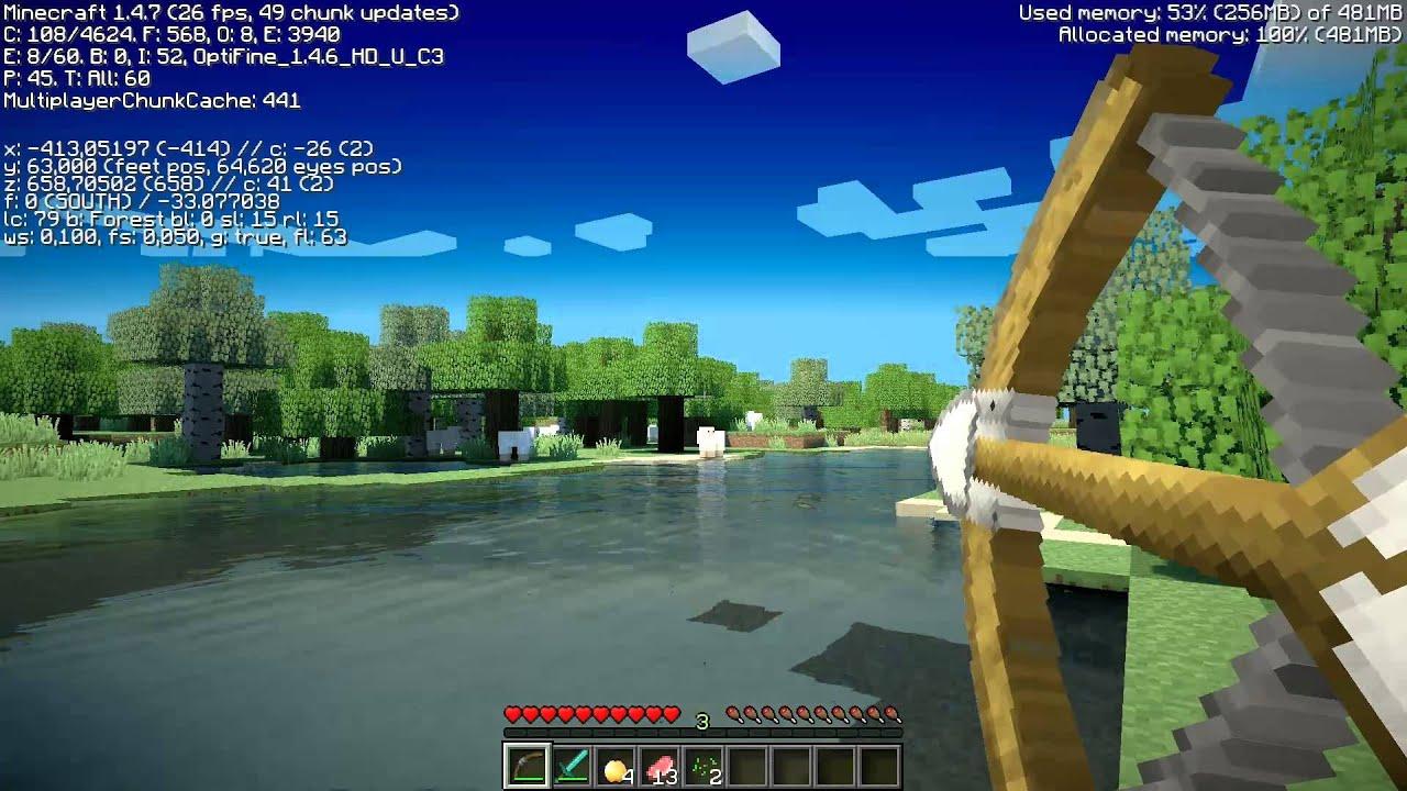 Minecraft Ultra Shader Test New Sapphire Hd 7870 Xt