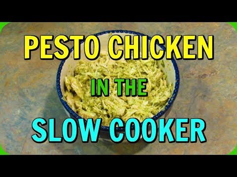 Low Carb PESTO CHICKEN In The SLOW COOKER!  Keto Friendly