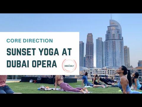 THE•DUBAI•DAILY: Experience Sunset Yoga at Dubai Opera with Core Direction