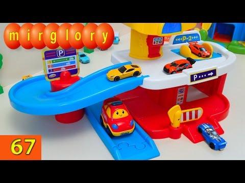 Машинки мультфильм Паркинг и трек с машинками Город машинок 67 серия. Развивающие мультики Mirglory
