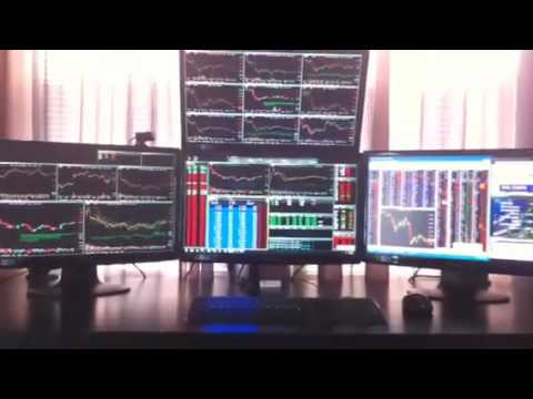 Day trading setup 4 monitors - YouTube