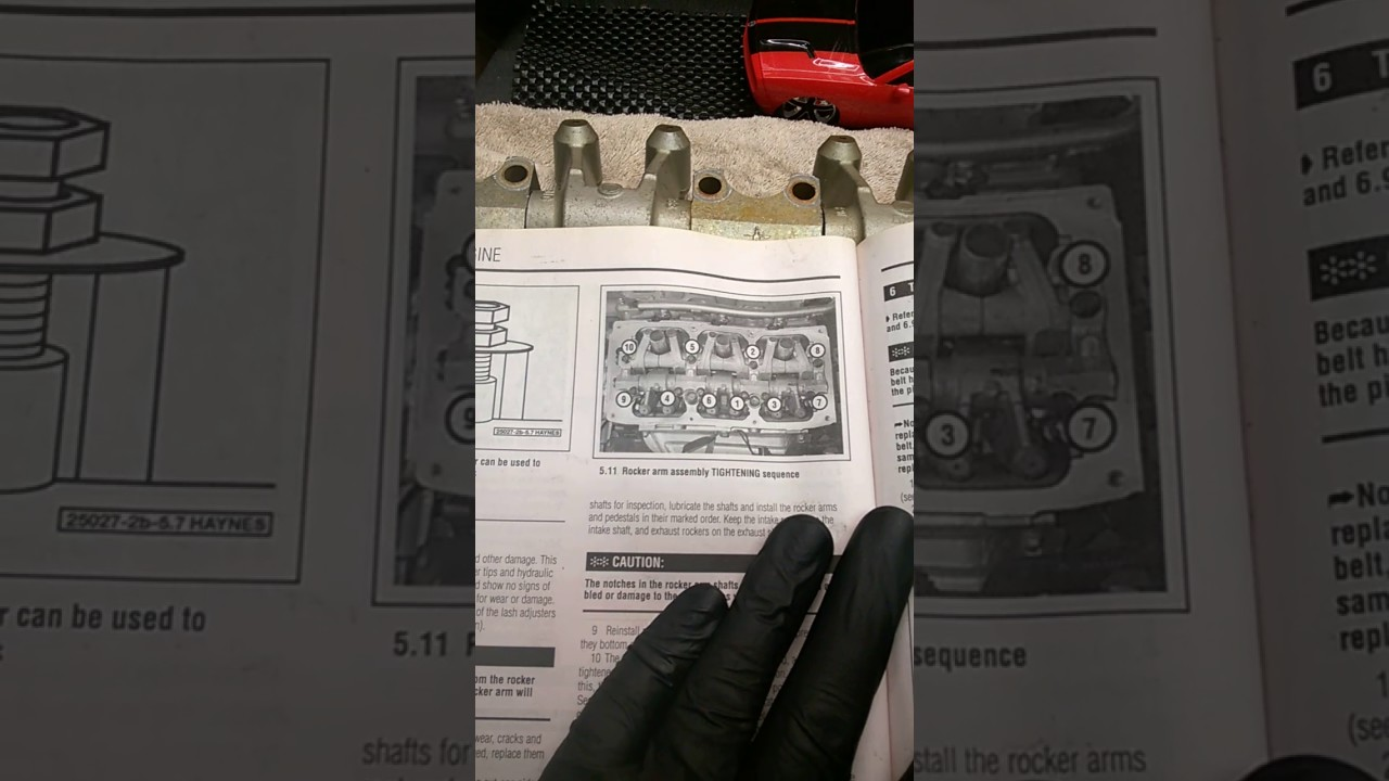 medium resolution of rocker arm assembly bolt tightening sequence and torque specs