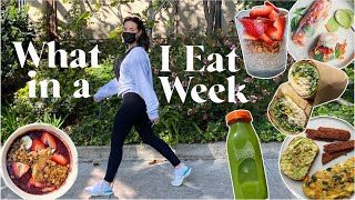 WHAT I EAT IN A WEEK // to just feel good!