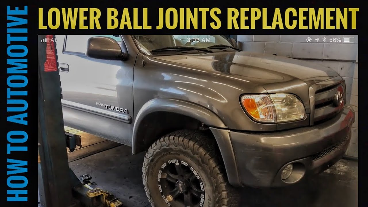 How To Replace The Lower Ball Joints On A 2000 2006 4x4 Toyota 4runner Joint Howtoautomotive Milwaukeetools