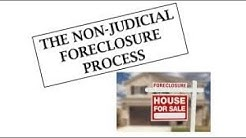 Learn How To Stop Your Non- Judicial Foreclosure Using One Document, Get Control Today!