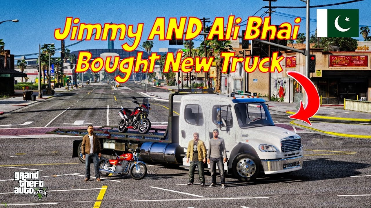 GTA 5 Pakistan | Jimmy And Ali Bhai Buys New Truck | Honda CB500X | Urdu