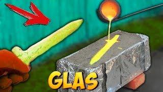 Ein SCHWERT aus GLAS und KUPFER-LAVA MISCHUNG gießen - EXPERIMENT