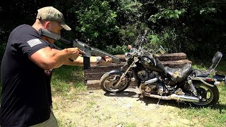 Full Auto 458 Socom vs Motorcycle 🏍 (Full Auto Friday)