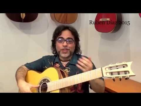 "Plastic surgery on guitars / classical turned into ""flamenca"" / A & Q Ruben Diaz CFG Spain"