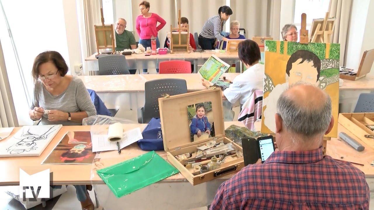 Taller de pintura y dibujo para personas mayores youtube - Talleres manualidades para adultos ...
