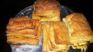 Flaky Homemade Chicken Puff Pastry    घर पर बनाइये कुरकुरे चिकन पफ पेस्ट्री    #CANDIDBERRY