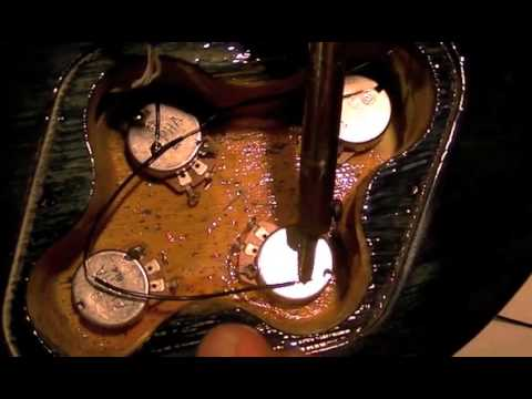 How To Wire A Les Paul Guitar From Scratch - Installing Ground