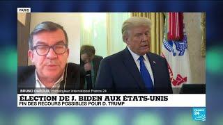 Élection de Joe Biden aux États-Unis : fin des recours pour Donald Trump