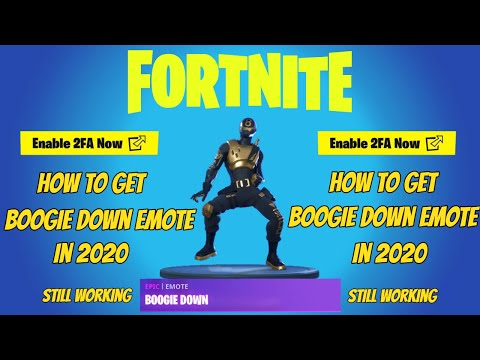 How To Get Boogie Down Emote In 2020 (Still Working)