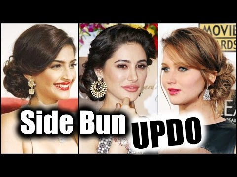 EASY SIDE BUN Hair Tutorial! │ Quick MESSY SIDE BUN │ UPDO Hairstyle