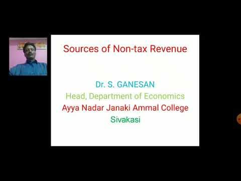 Sources of Non-tax Revenue
