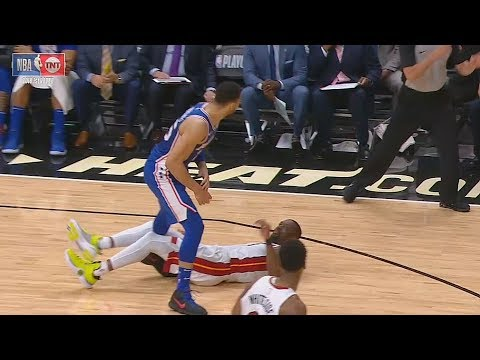 Dwyane Wade Almost Knocked Out By Ben Simmons!