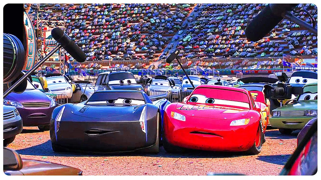 cars 3 quotlightning mcqueen meets jackson stormquot movie clip